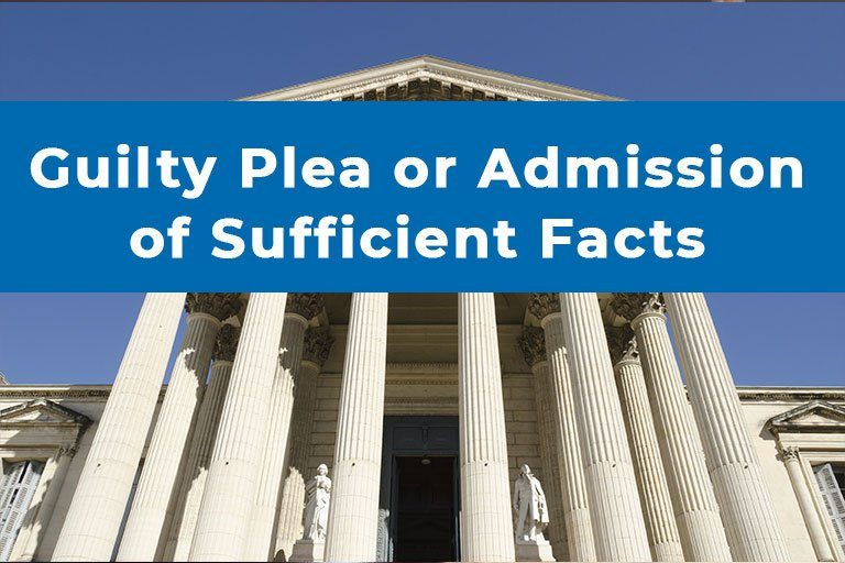Guilty Plea or Admission of Sufficient Facts in Massachusetts